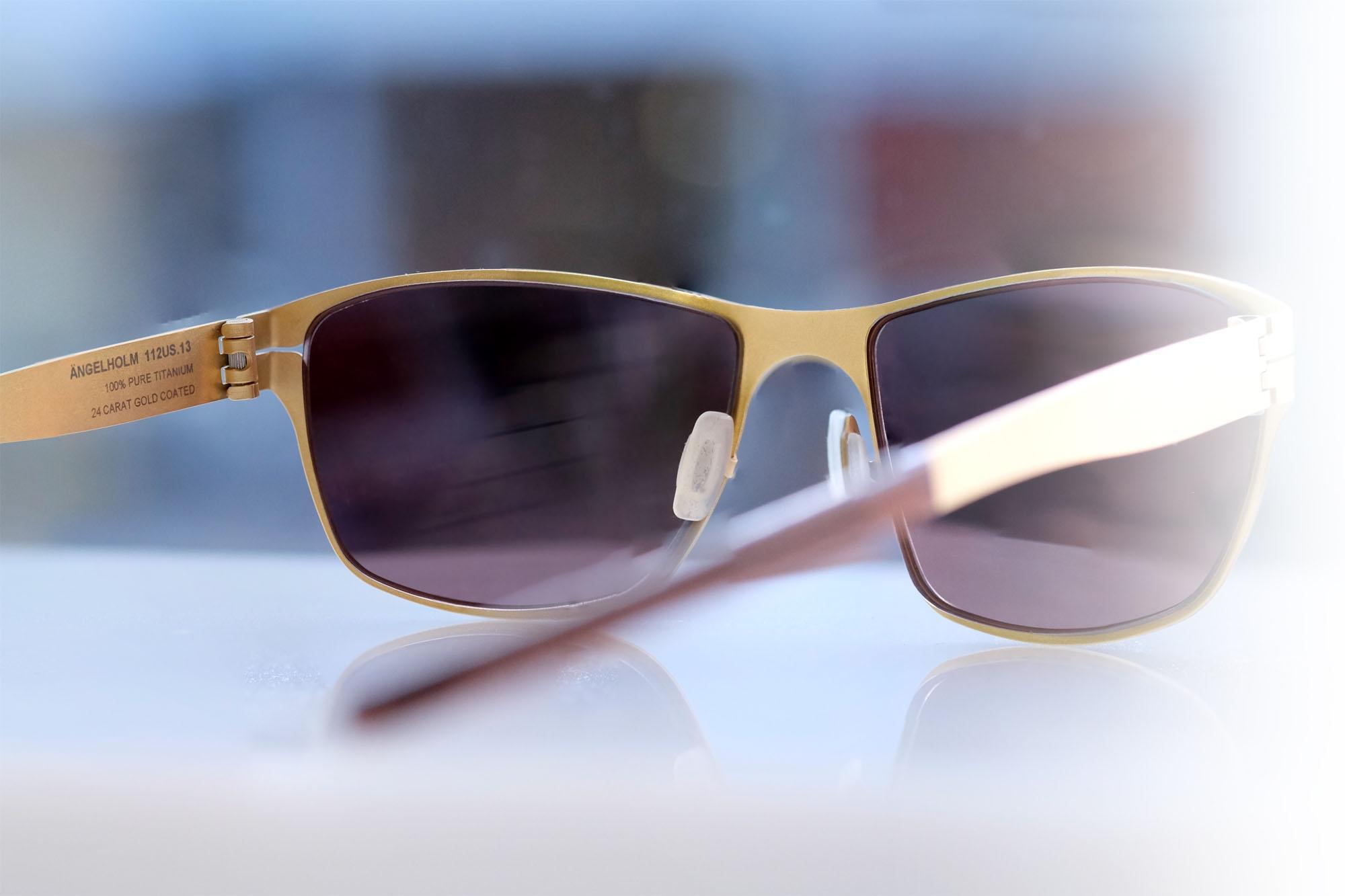 Meyer - Ängelholm in 24 Karat Gold als Sonnenbrille