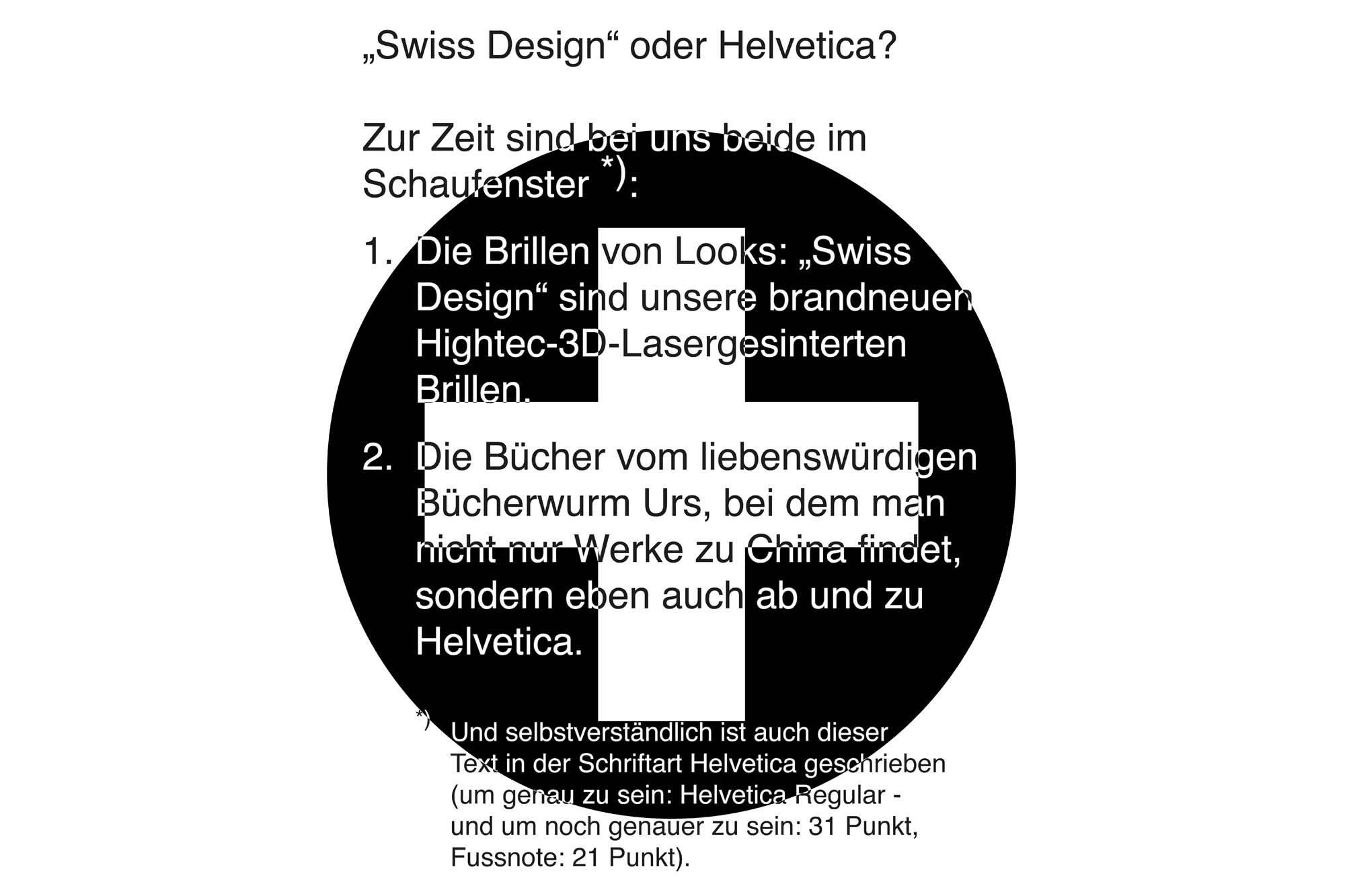 Schaufenster Nr. 044: Bücherwurm trifft auf Helvetica