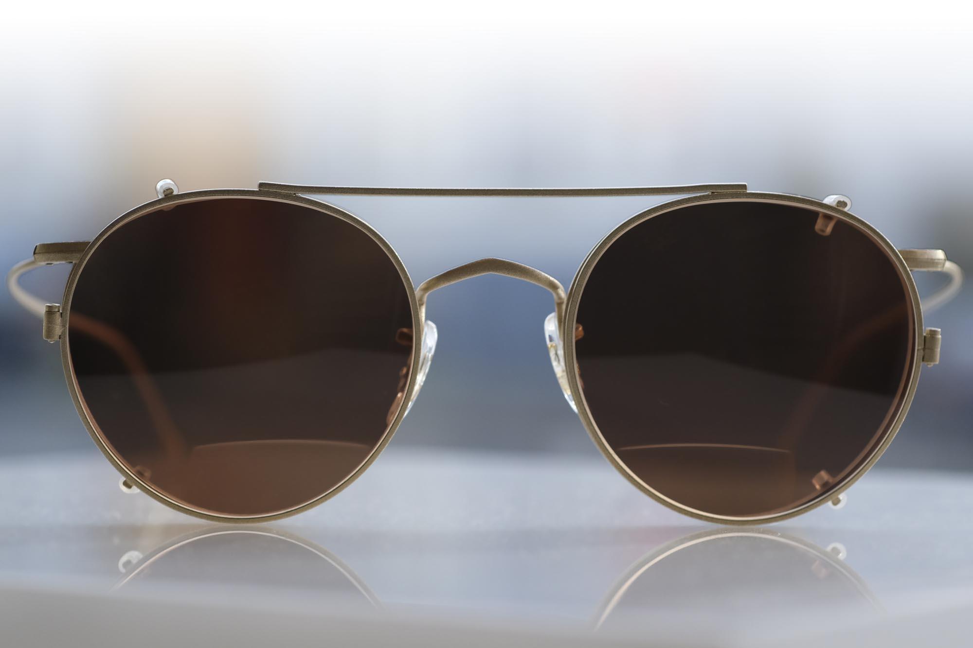 Savile Row - Panto, Gold Matt als Golfbrille
