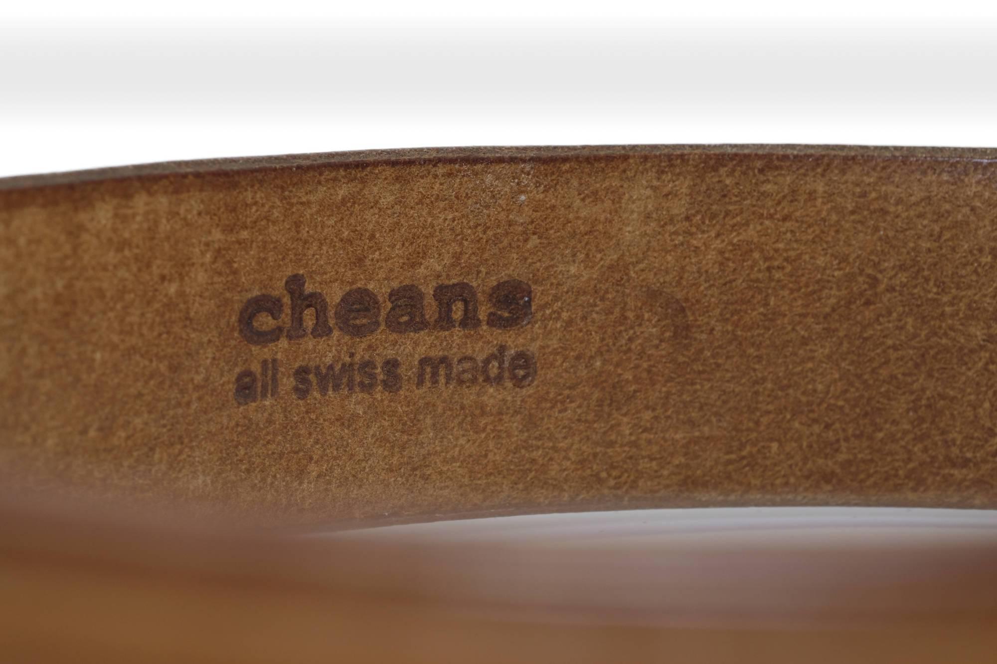 cheans Gürtel Sattelleder