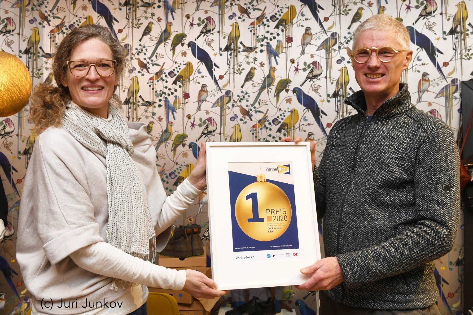 Schaufenster Nr. 074: Vitrine d'Or, Preisverleihung der bz vom 15. Januar 2021 (Photo: Juri Junkov)