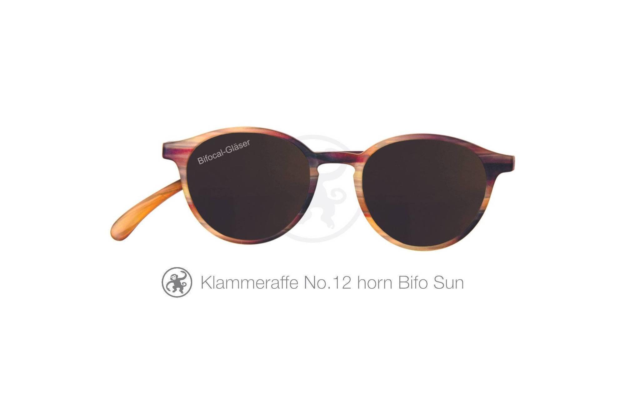 Klammeraffe Modell 12 bifokal, Farbe horn