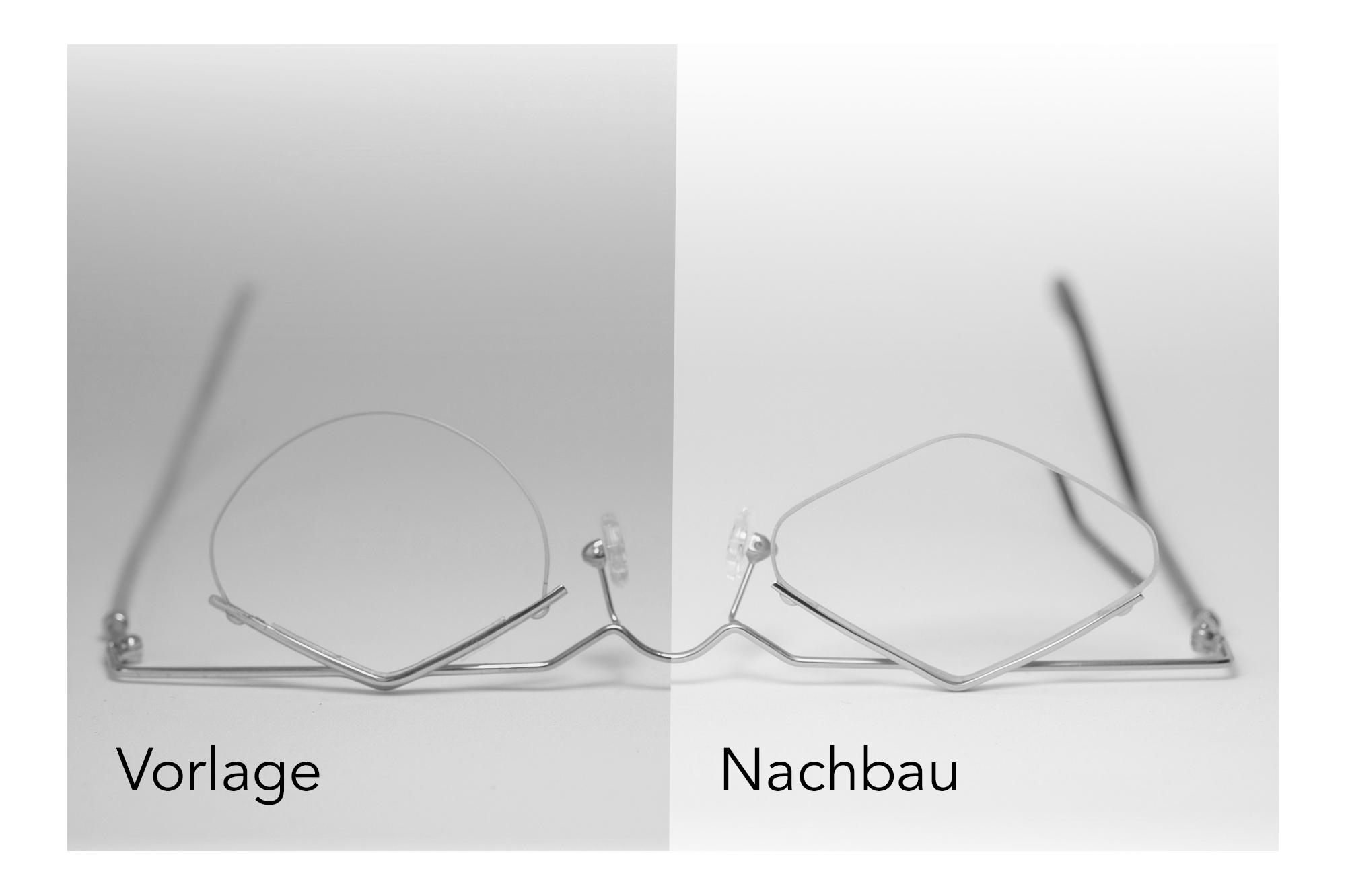 Massanfertigung: Nachbau einer Kundinnenbrille in Sterlingsilber