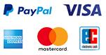 Beliebige Zahlungsmittel: Kreditkarte, Paypal oder Vorauskasse