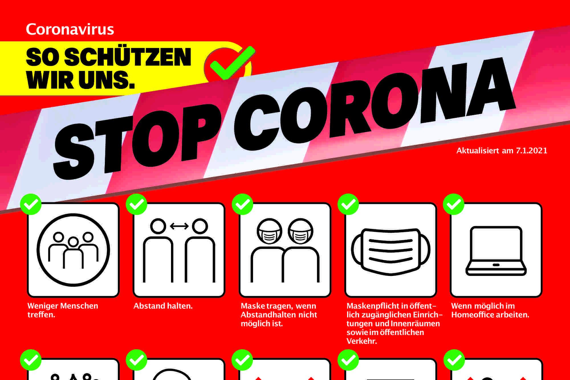 CORONA: Aktuelles Schutzkonzept